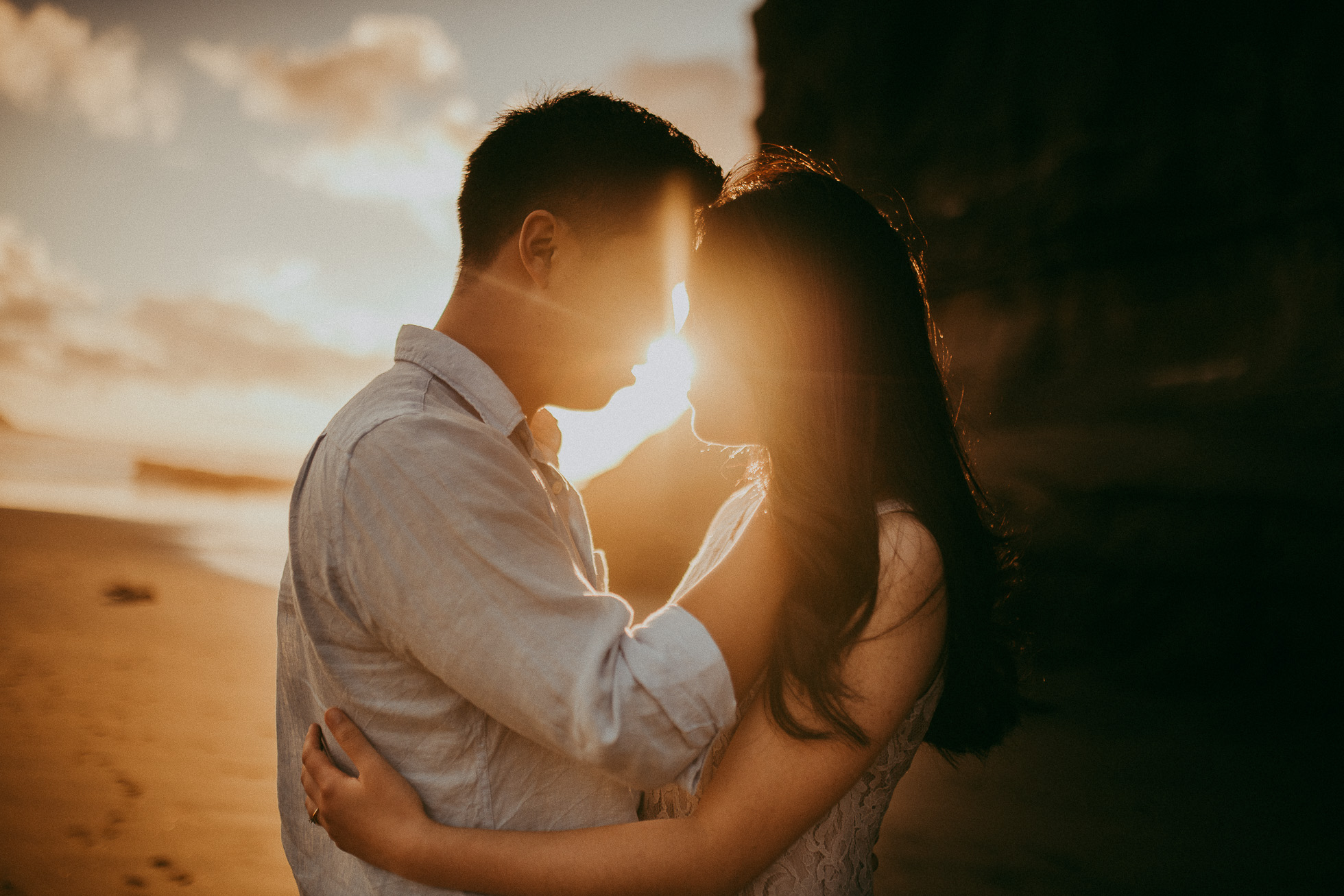 Romantic engagement | pre-wedding photo shoot - Muriwai Beach {Auckland wedding photographer}