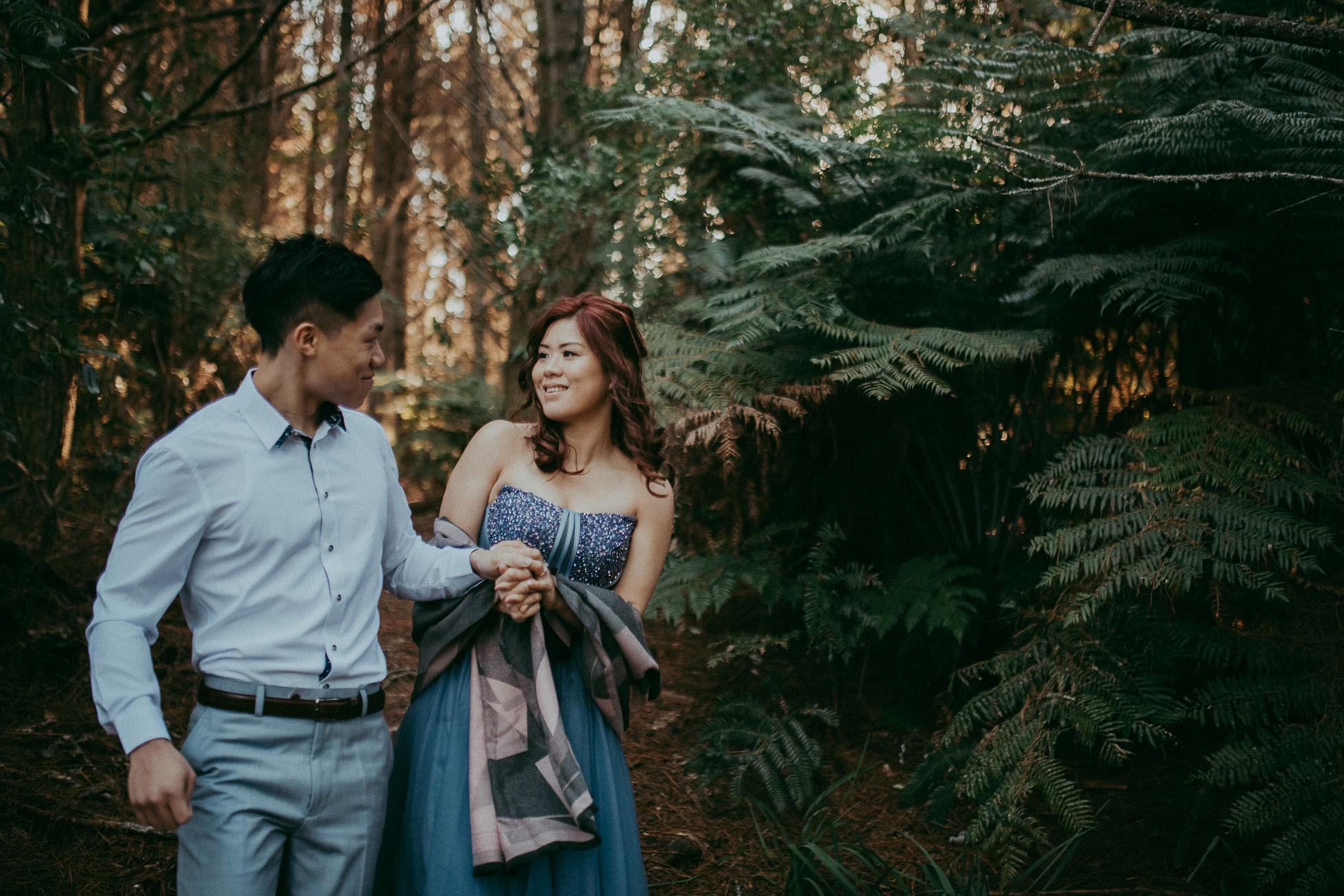 Pre-wedding photo shoot in New Zealand {Auckland wedding photographer} Riverhead forest