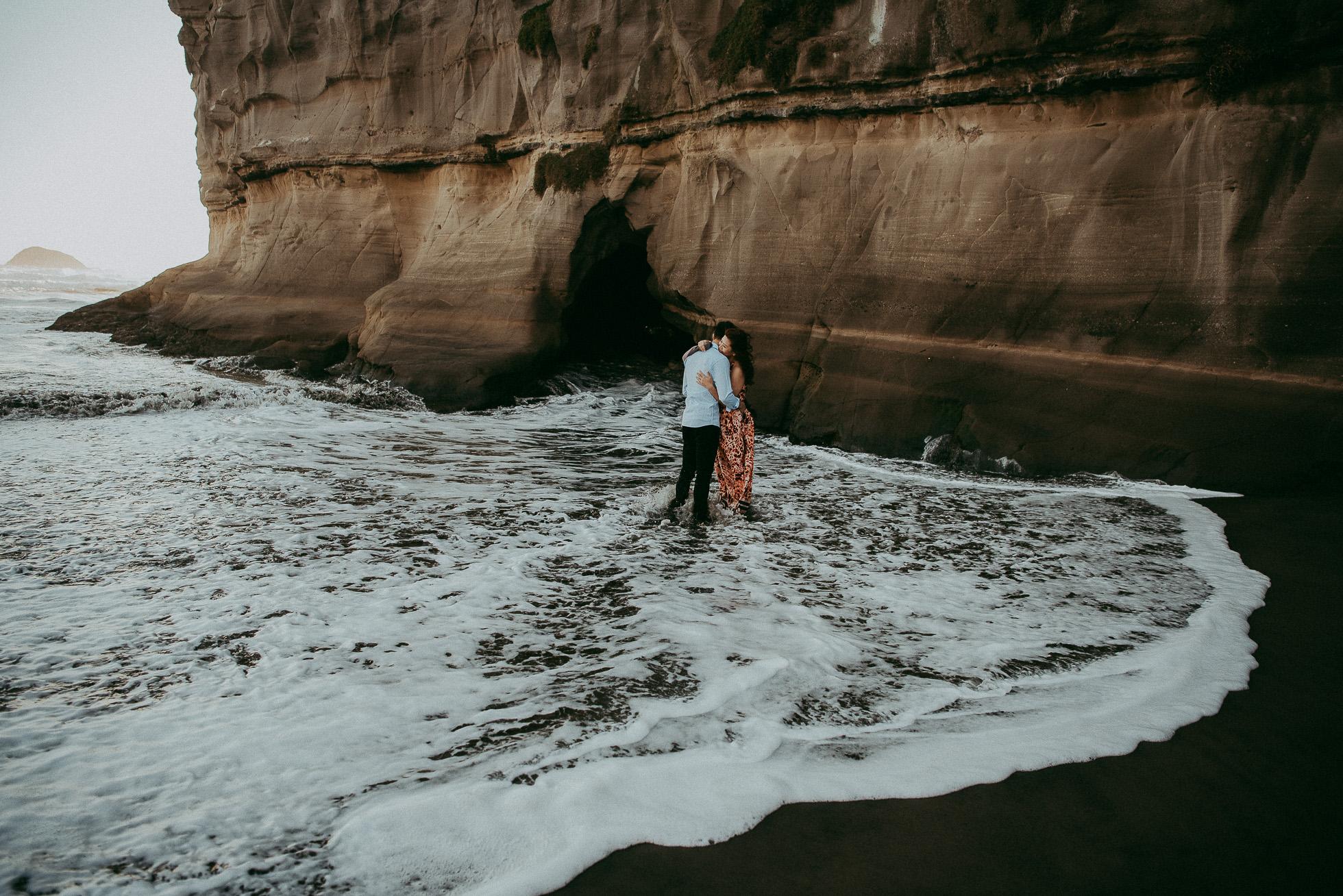 Muriwai Beach - Pre-wedding photo shoot in New Zealand {Auckland wedding photographer}