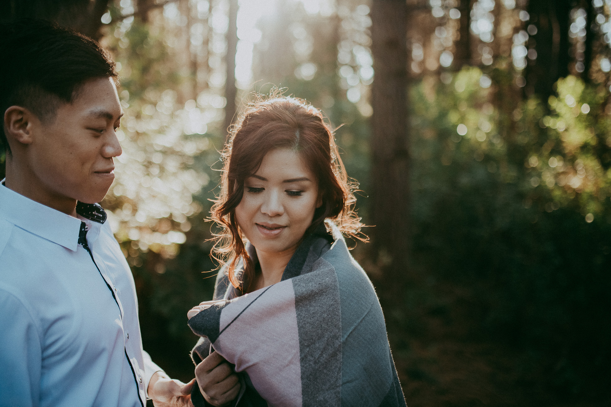 Pre-wedding West Auckland + Domain Auckland photo shoot {wedding | engagement photography}