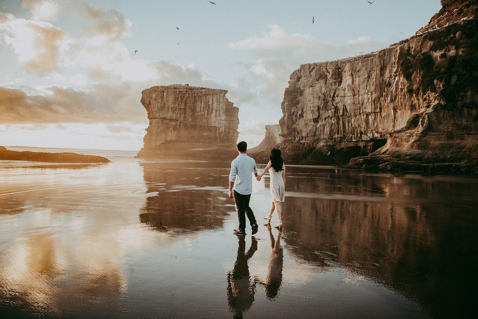Hannah & Jordan , Muriwai Beach, Auckland