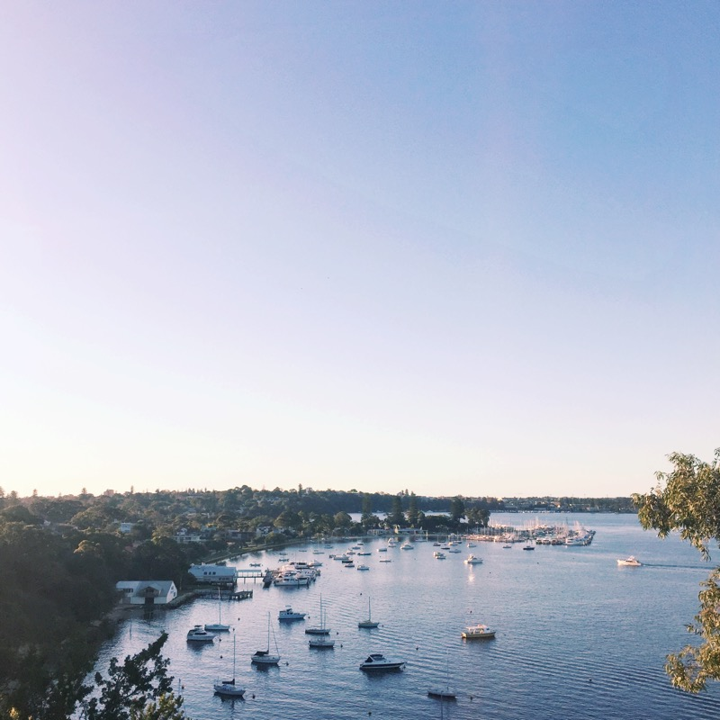 Beautiful view of Mosman Bay- this is what Winter in Perth looks like.