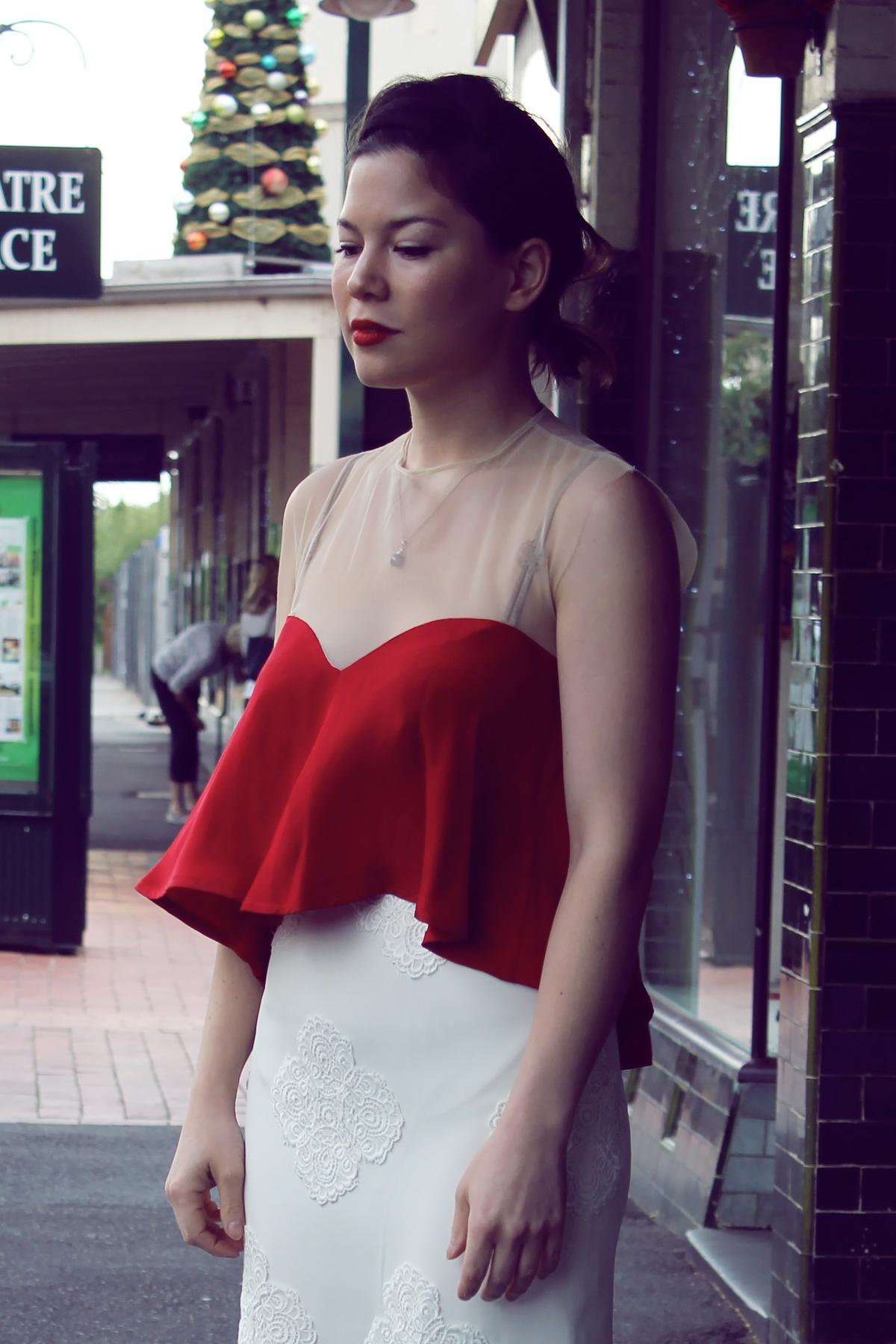 Sweetheart Top & Falling Rose Skirt