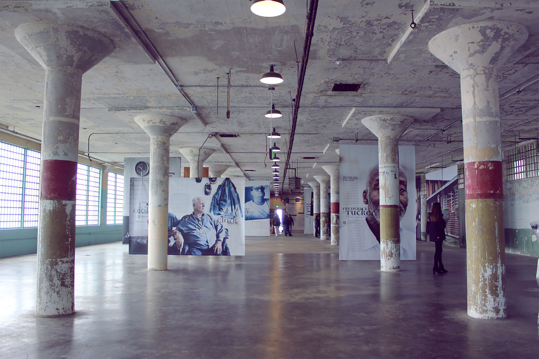 Prisoners of Age Exhibit at Alcatraz, San Francisco. Featuring photography by Ron Levine.