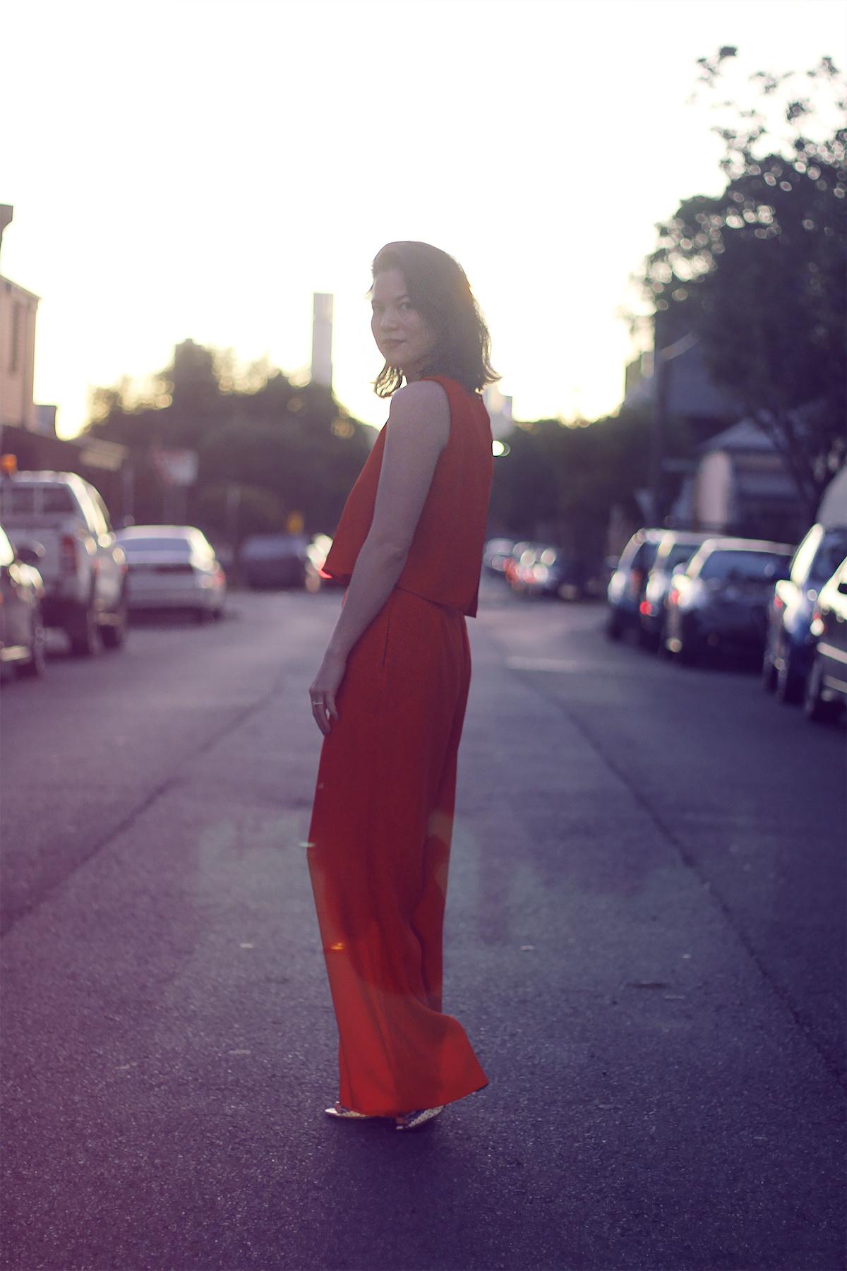 Zara Red Jumpsuit Lei Lady Lei Blog