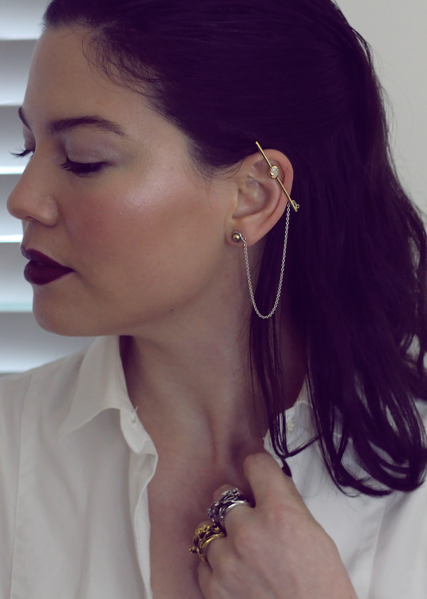 Surrender Ear Bar  +  Killaflora Rings
