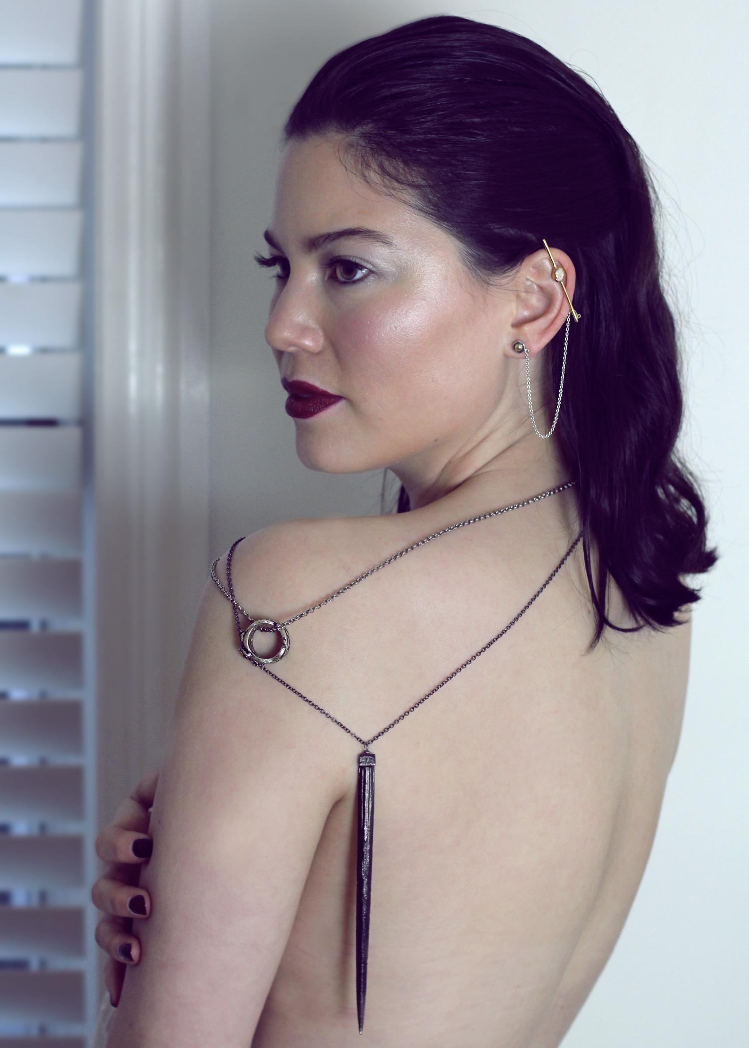 Surrender Ear Bar  +  Killaflora Necklace