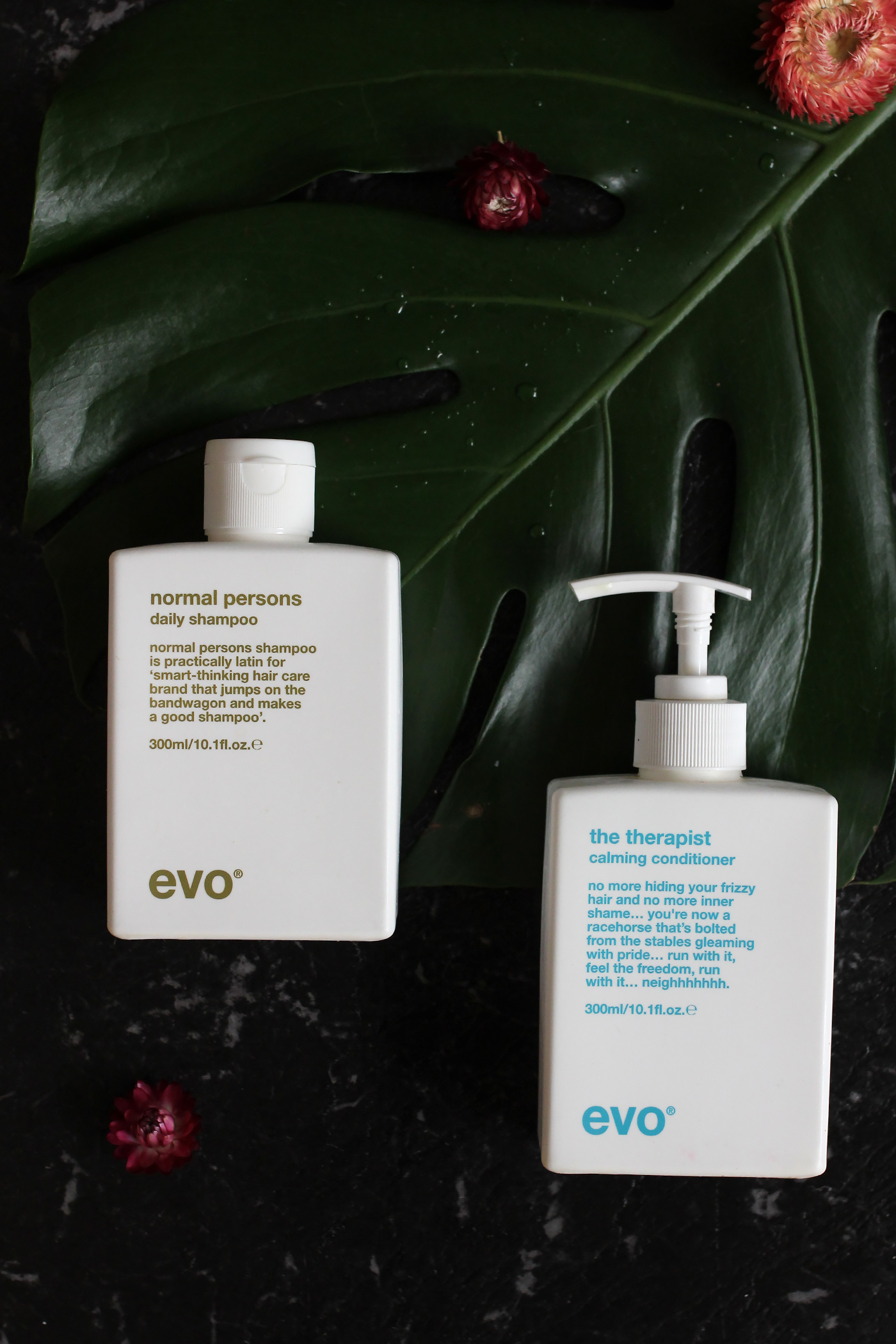 Evo N    ormal Persons Daily Shampoo  &     Therapist Calming Conditioner