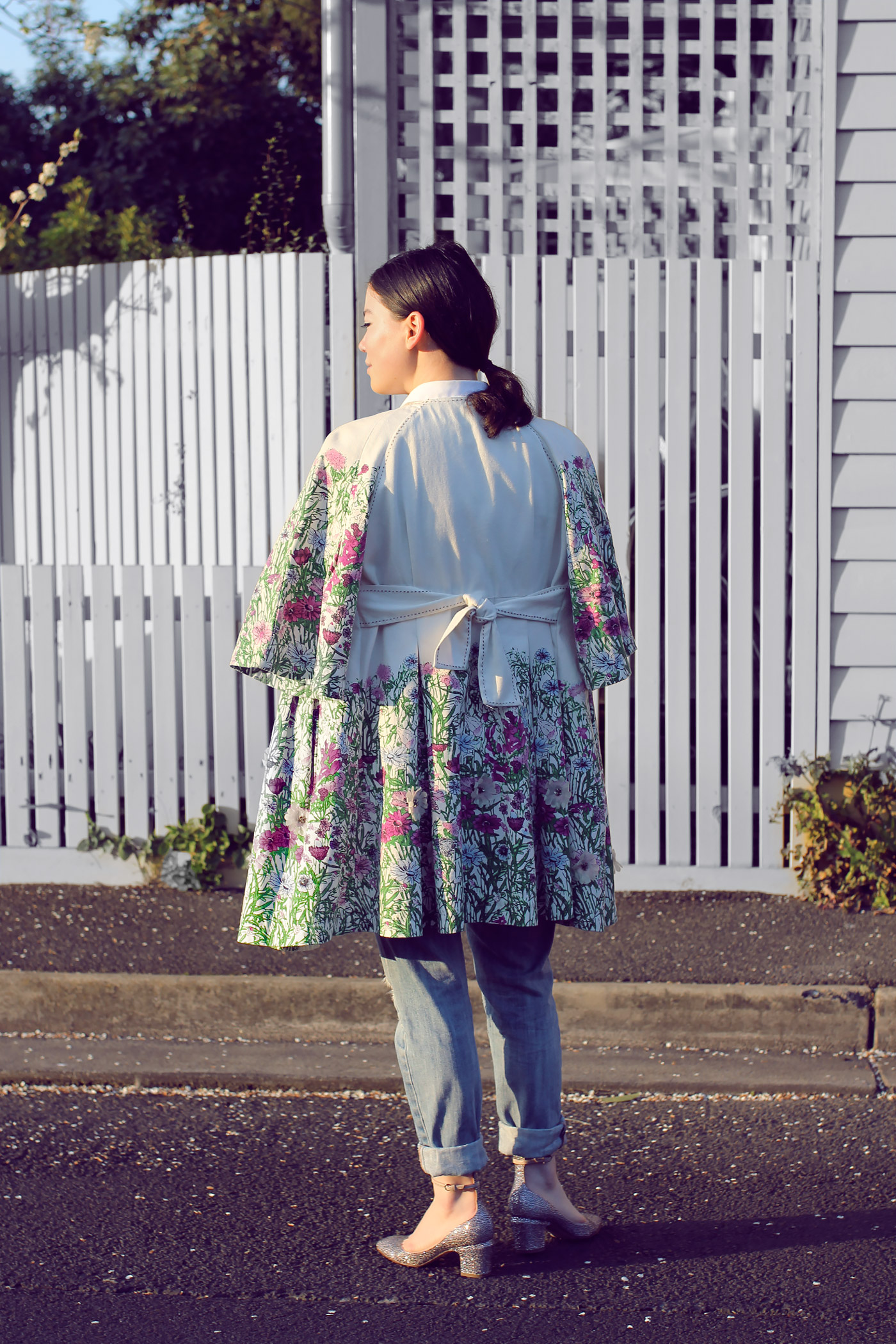 Spring Floral Outfit Coat Cacheral Lei Lady Lei
