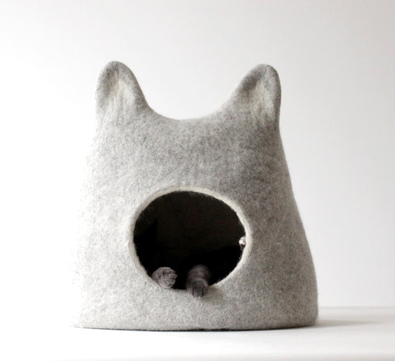 Felted Cat Bed By Agnes Felt