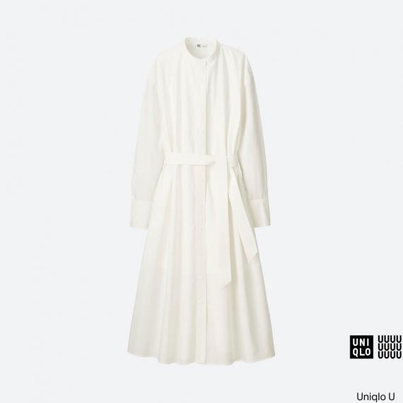 WOMEN Uniqlo U Cotton Long Sleeve Long Shirtdress AU$79.90