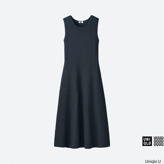 WOMEN Uniqlo U Cotton Flare Sleeveless Dress AU$129.90