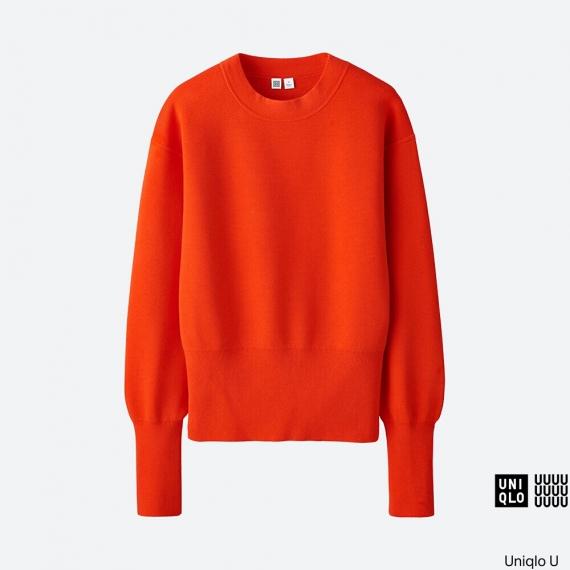 WOMEN Uniqlo U Milano Ribbed Crew Neck Sweater AU$59.90