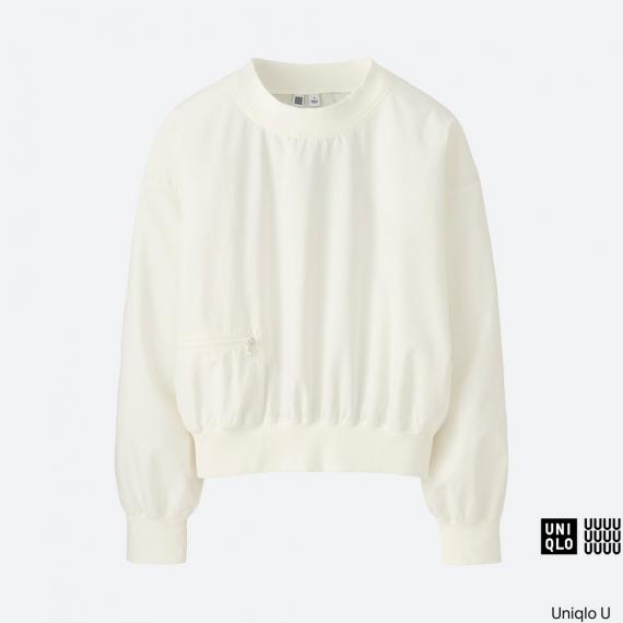 WOMEN Uniqlo U Cotton Long Sleeve T Blouse AU$49.90