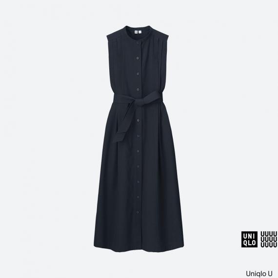 WOMEN Uniqlo U Seersucker Sleeveless Long Dress AU$79.90