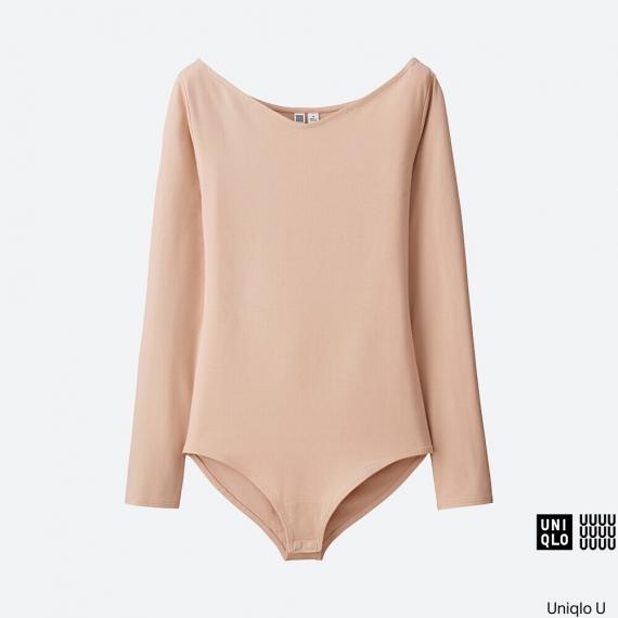 WOMEN Uniqlo U Body V-Neck Long Sleeve T AU$29.90