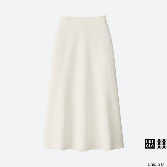 WOMEN Uniqlo U Milano Ribbed Aline Skirt AU$59.90