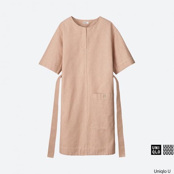 WOMEN Uniqlo U Melange Short Sleeve Sack Dress AU$79.90