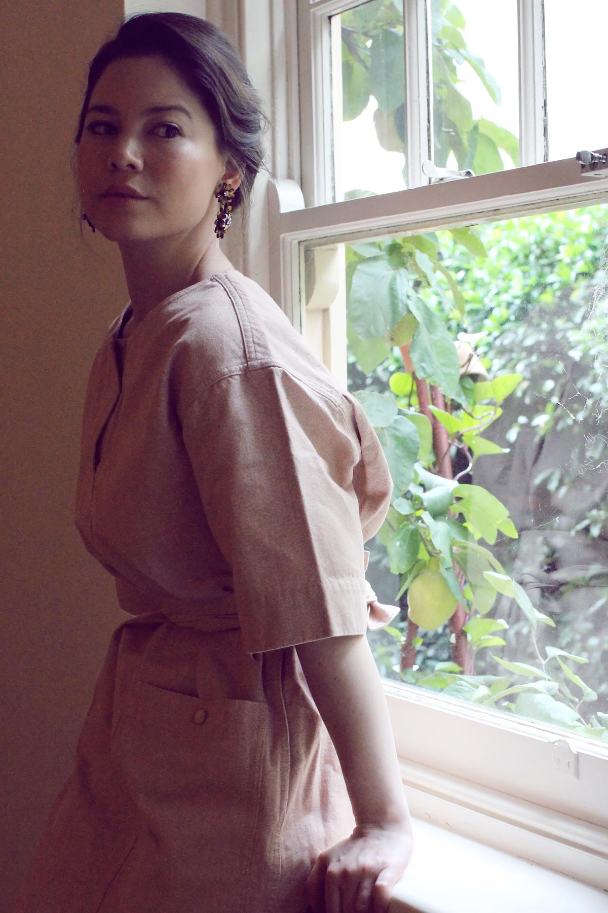 Uniqlo U Melange Short Sleeve Sack Dress