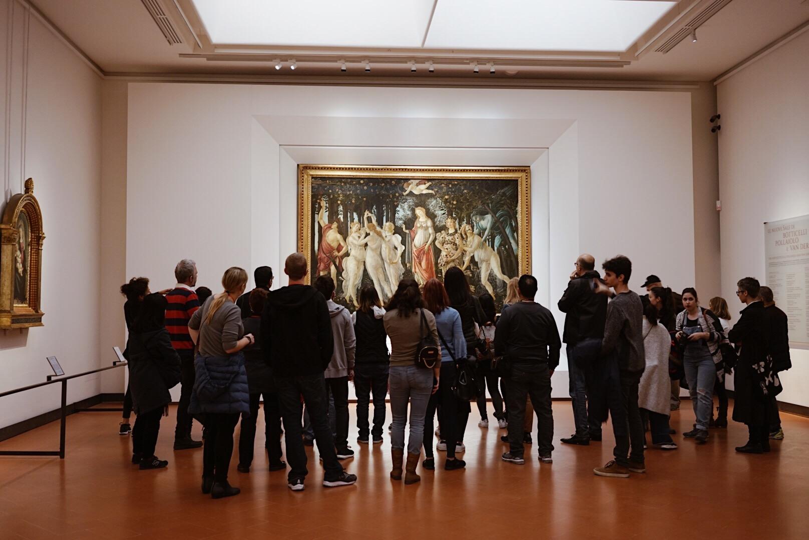 Botticelli's La Primavera at Uffizi Gallery
