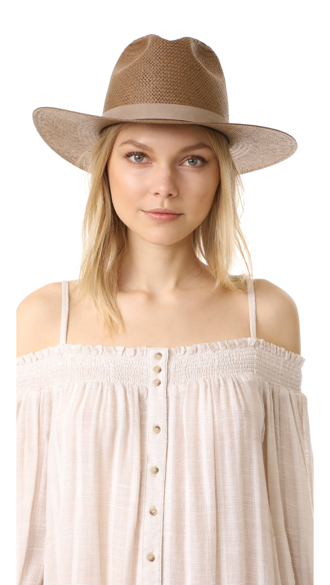 Packable Adriana Short Brimmed Fedora    by Janessa Leone