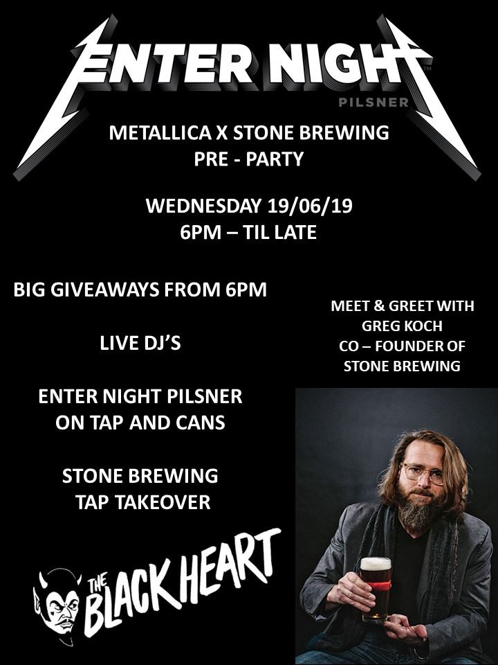 ENTER NIGHT - Metallica X Stone Brewing Pre-Party — Our