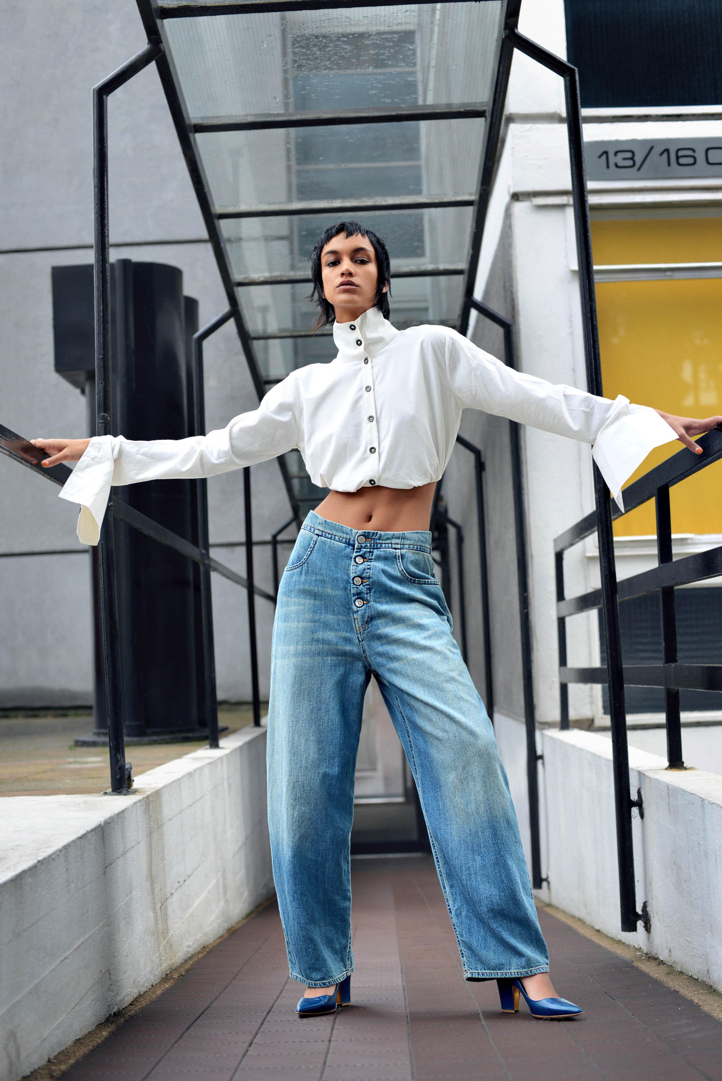 Model Soraya Jansen@Storm model management  wearing maison margiela  rupert sanderson  bibi van der velden  chola by sohaya misra