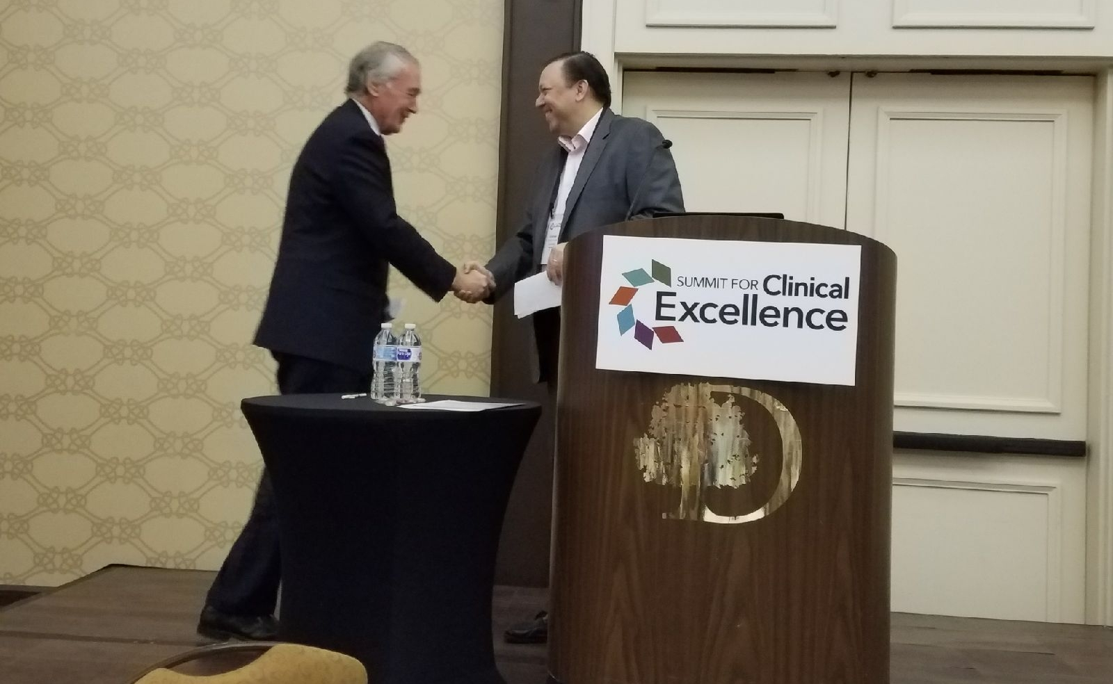 Andrew Kessler welcomes Senator Ed Markey to the New England Summit for Clinical Excellence