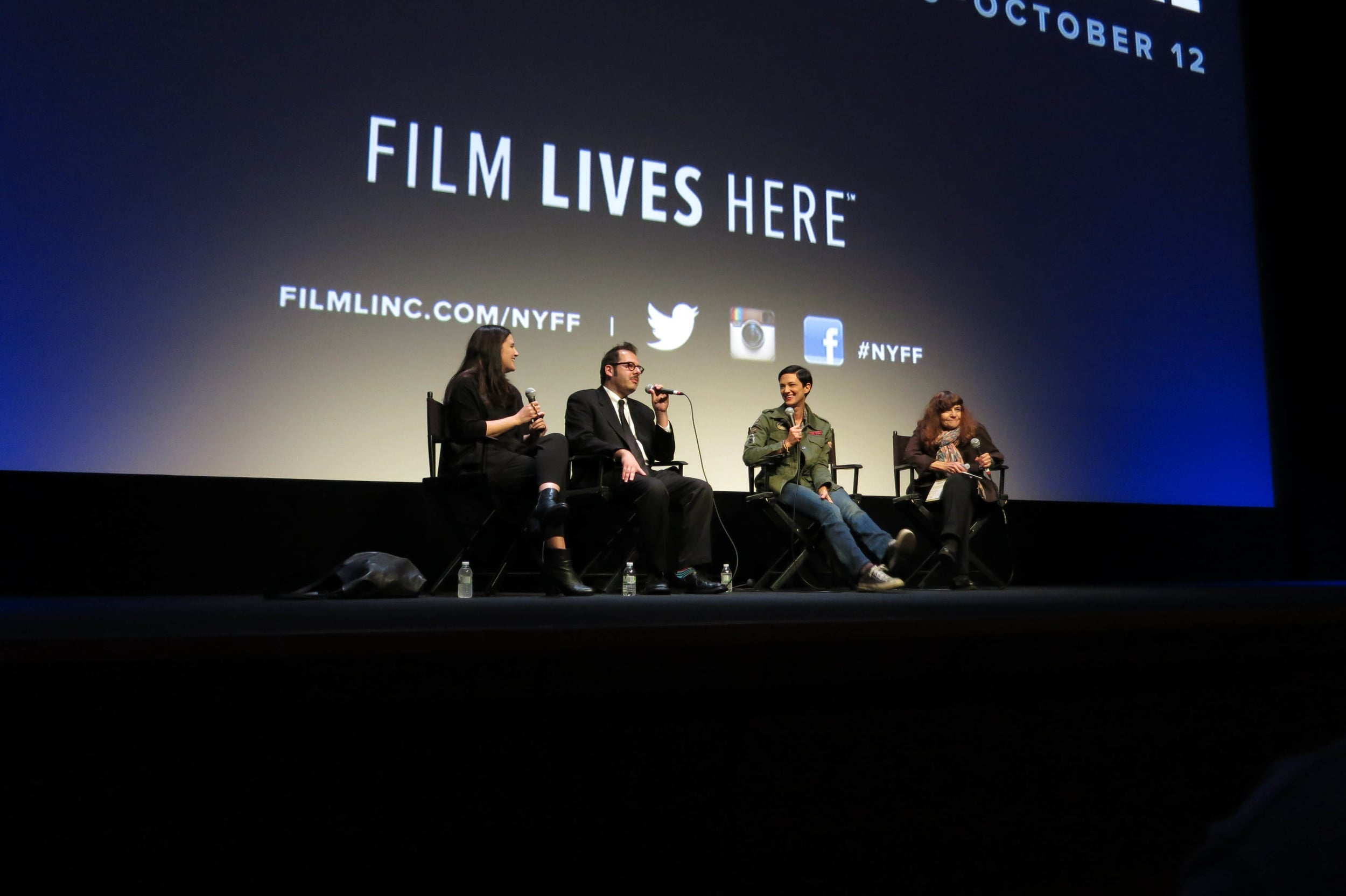 Q & A at New York Film Festival 2014 for Asia Argento's  MISUNDERSTOOD . l-r Echo Danon, Jim Magas, Asia Argento, Manohla Dargis. Photo by John Andersen