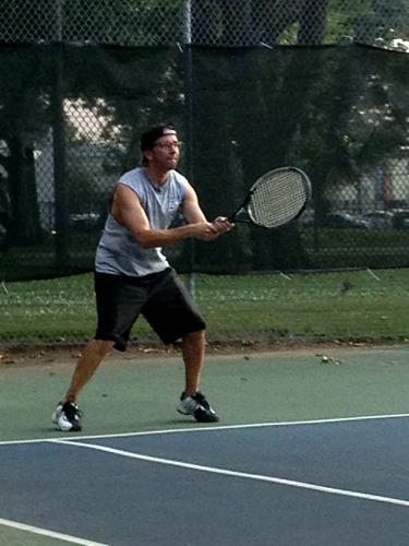 Russ Terry, Life Coach  Me playing tennis
