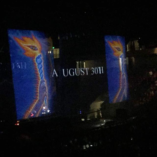 TOOL just confirmed the release date of their upcoming album during intermission at tonight's Birmingham, Alabama show. . . . . . #tool #toolband #aenema #lateralus #10000days #metal #hornsup #nowplaying #hornsup #maynard #maynardjameskeenan #adamjones #dannycarey #justinchancellor #alexgrey #horror #film #art #music #rock