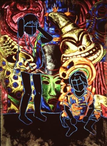 """Oil on Raw linen60"""" x 48""""1998 -"""