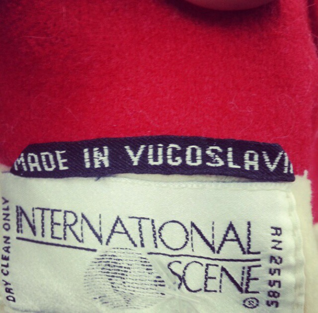 vintage coat tag* (sonya kovacic)