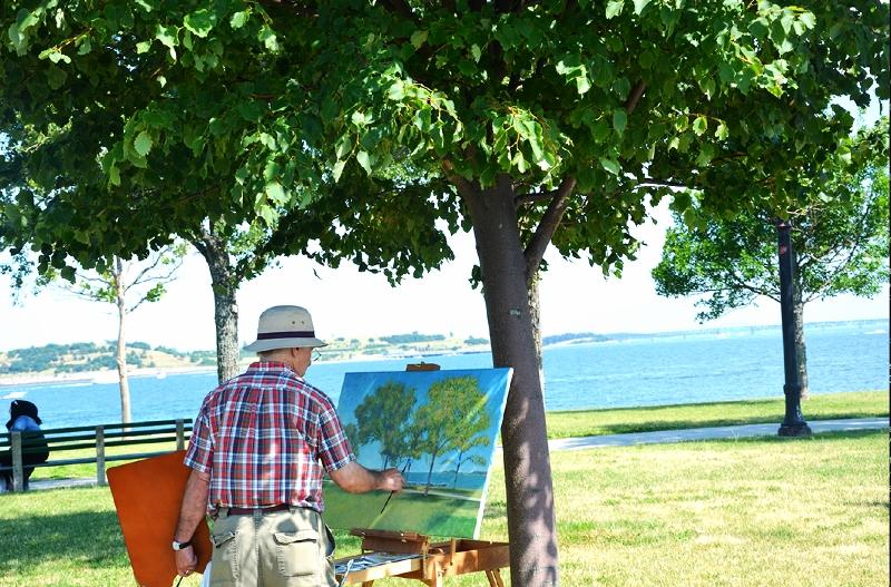 a painter on castle island (sonya kovacic)