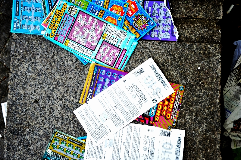 discarded scratch tickets, downtown (sonya kovacic)
