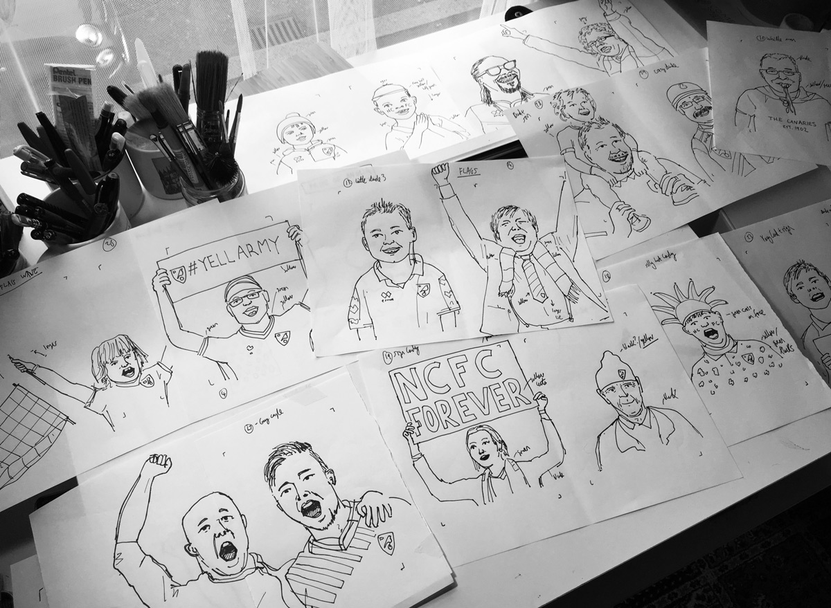 Initial fan sketches