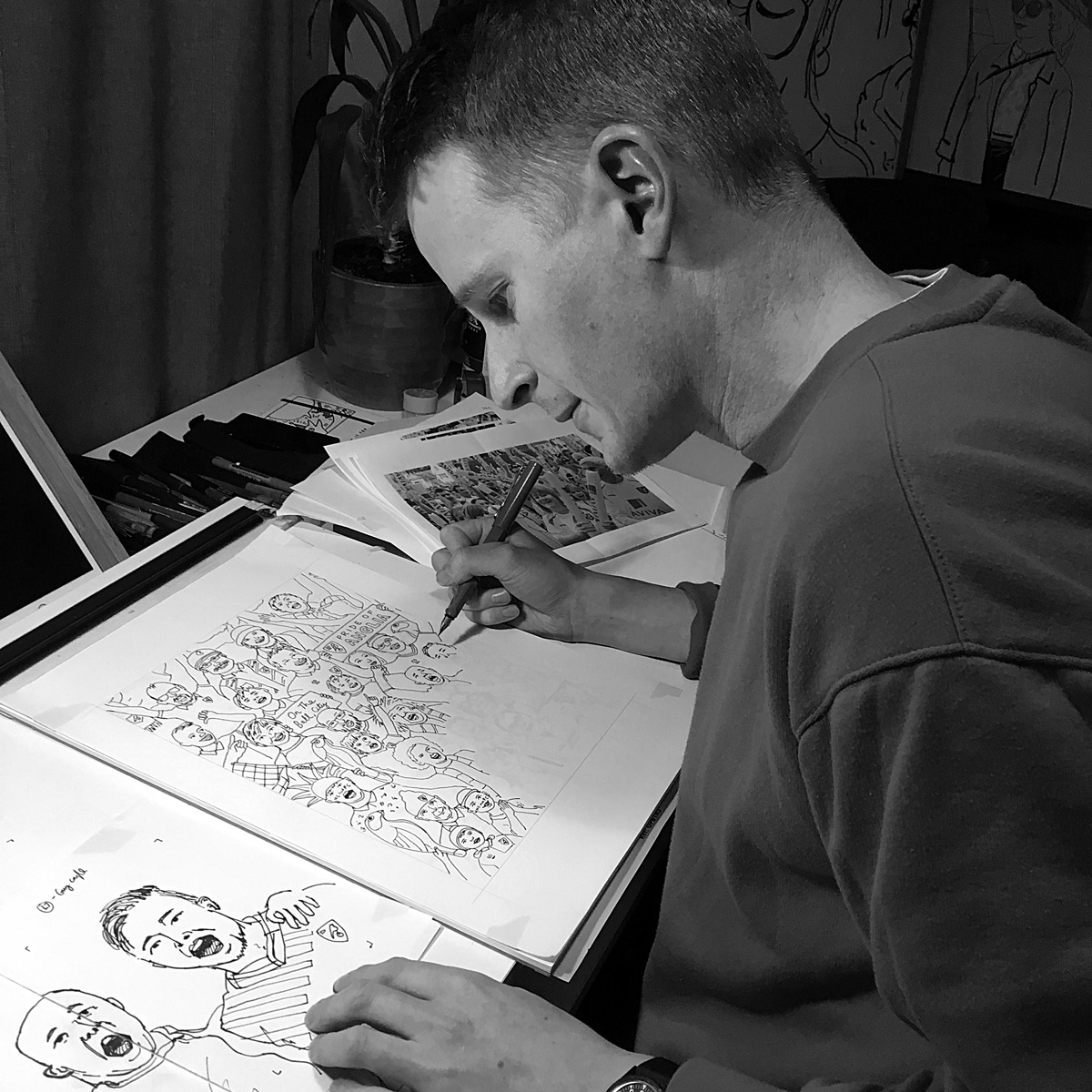 Drawing the final linework