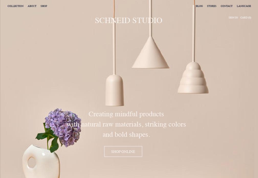 Schneid Studio —  Website