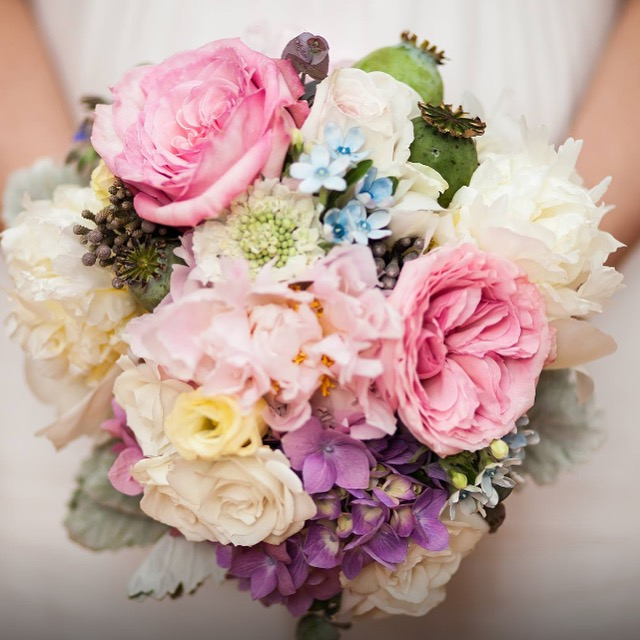 An elopement bouquet that I made on a Monday a few months ago at the flower shop.