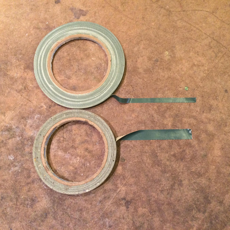 Waterproof tape, two sizes.