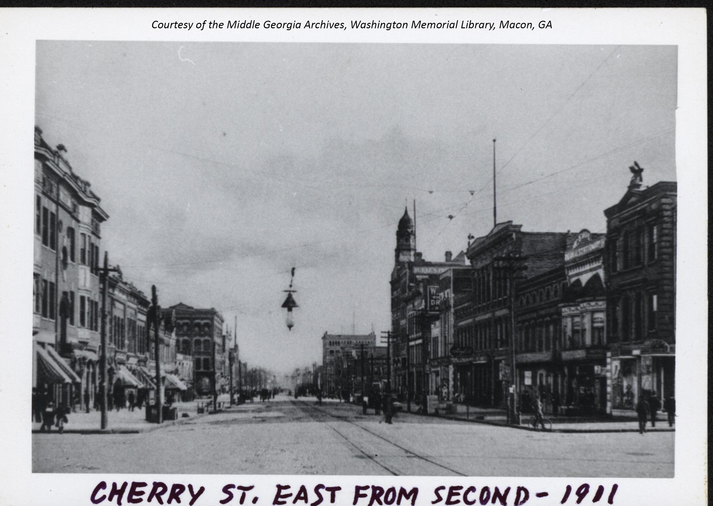 Macon's Cherry Street 1911