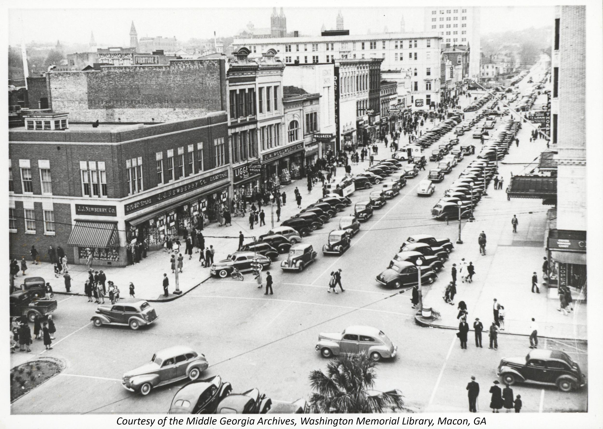 Downtown Macon, GA in 1948
