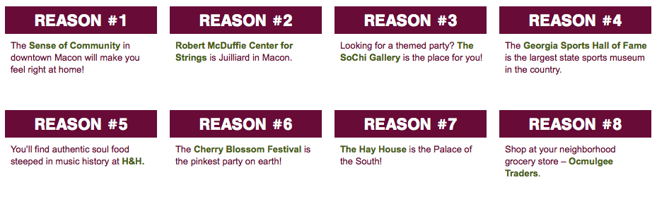 Top 100 Reasons to Live Downtown Macon