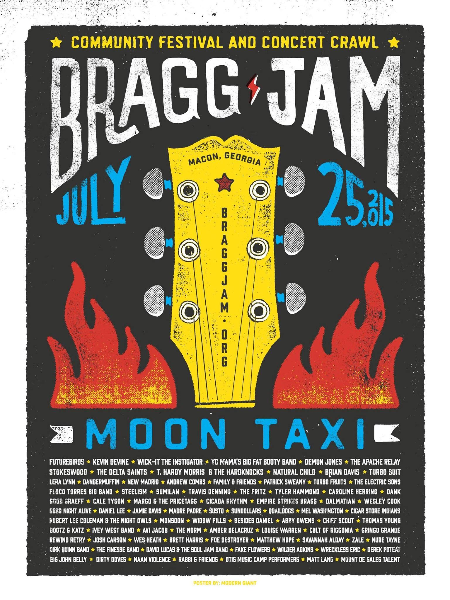 2015 Bragg Jam Festival Concert Crawl Lineup