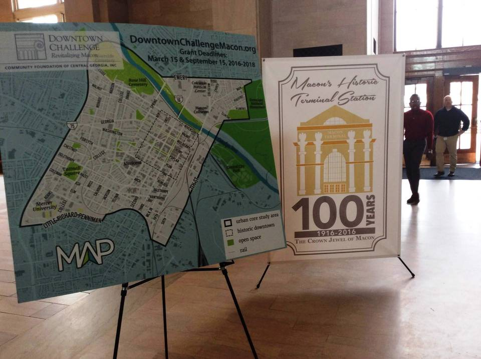 Macon's Downtown Challenge Announced Tuesday at the Historic Terminal Station. Photo by Macon.com