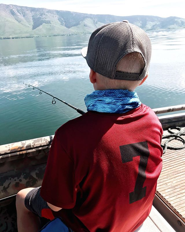 What a strange coincidence— Today is Hudson's last day being SEVEN years old! We're spending it doing exactly what he loves doing the very most. ♥️🎣