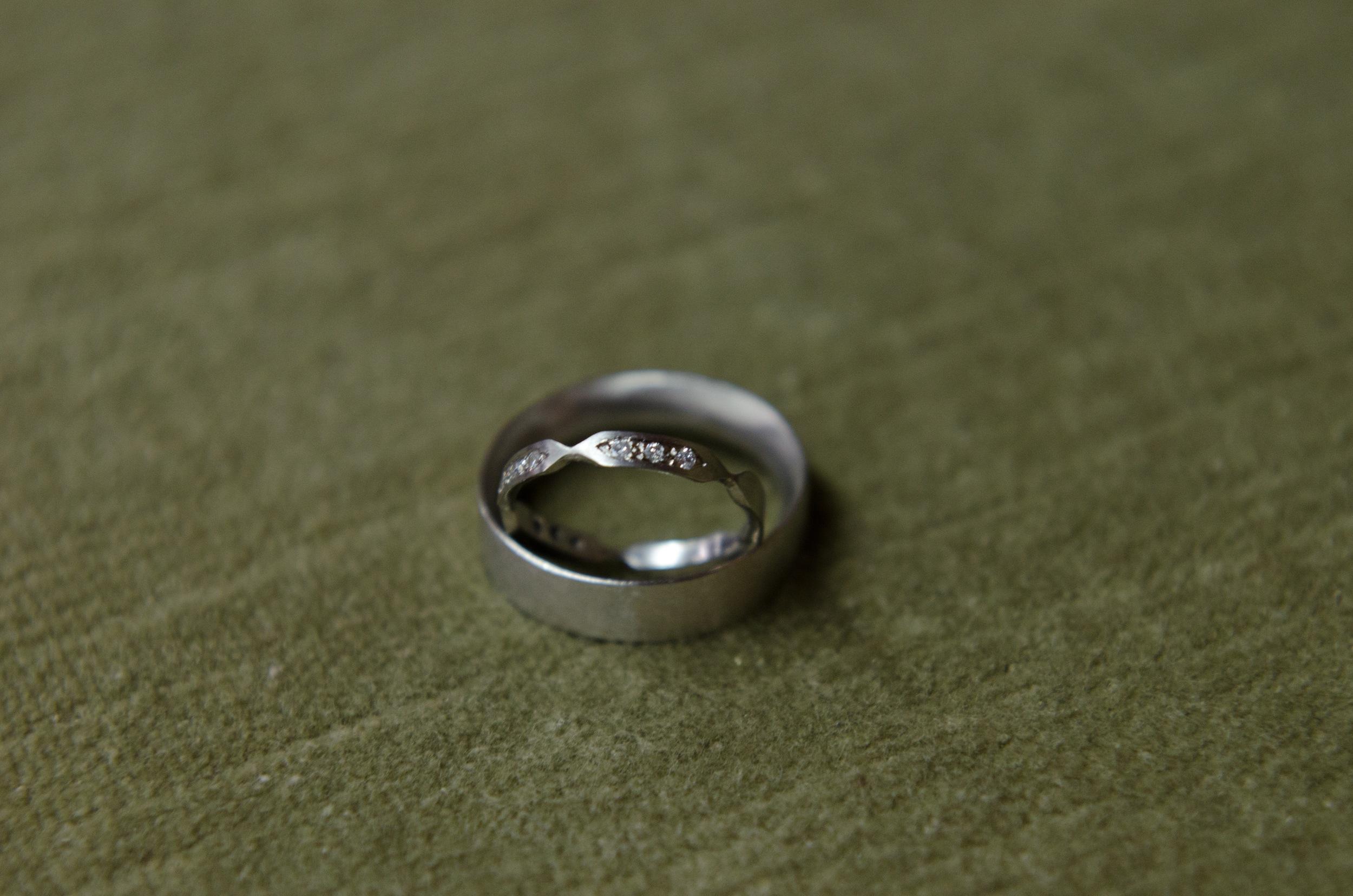 Amy + Ryan's Rings - detail