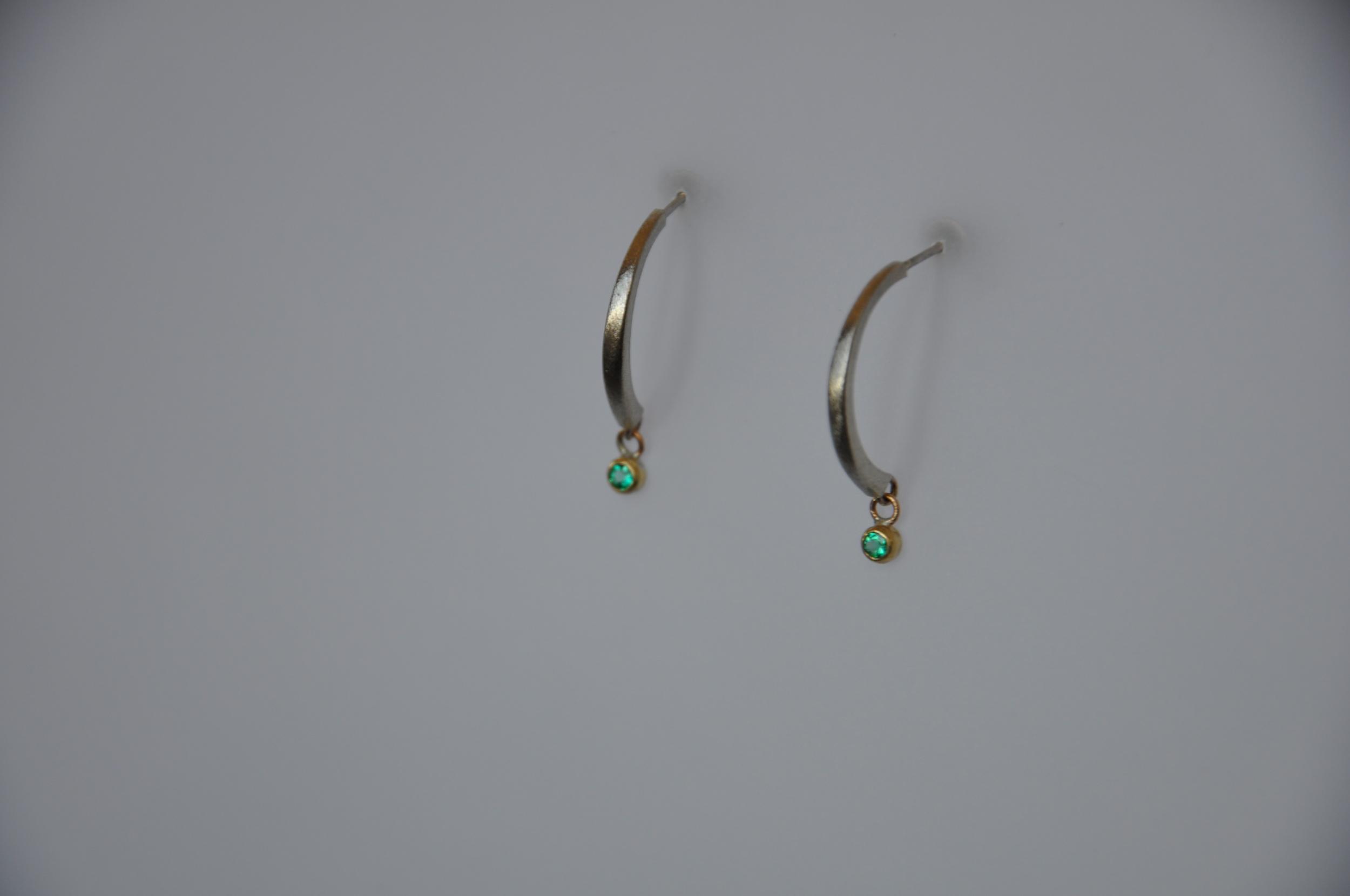 Emerald Drop Earrings - detail