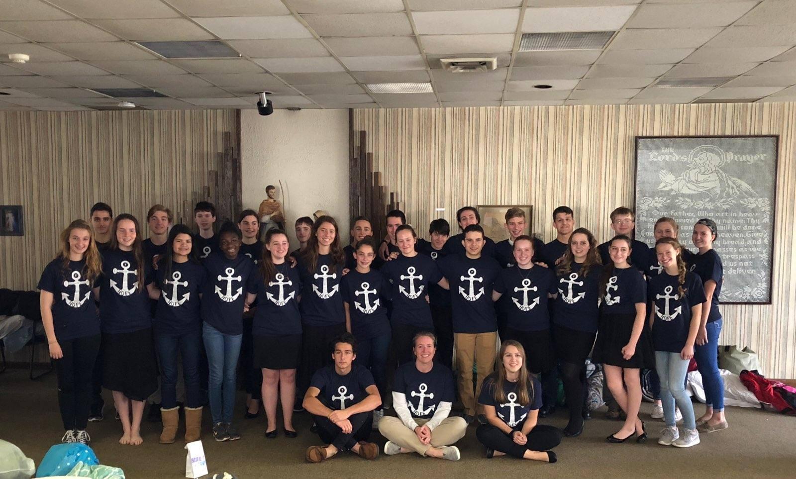 St. Magdalen's Youth Group Flemington, NJ   Spring retreat shirts.