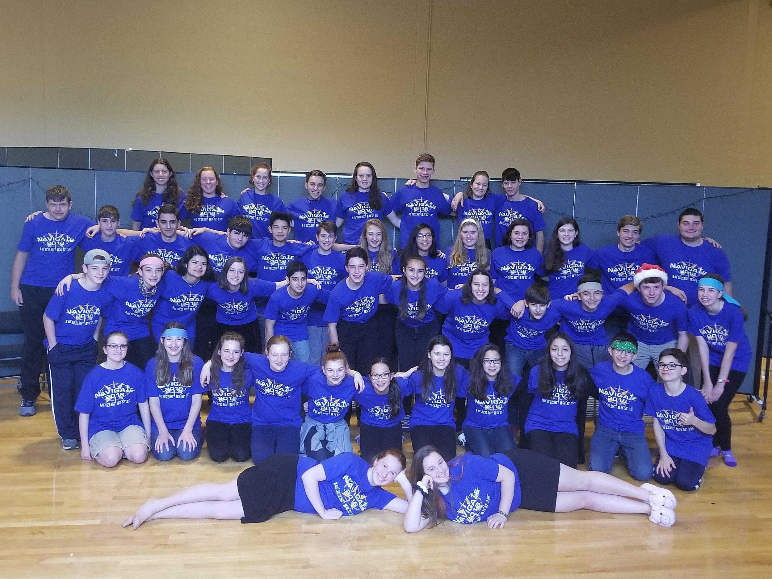 St. Magdalen's Youth Group Flemington, NJ   Winter retreat shirts.
